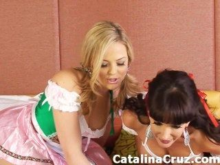 Catalina Cruz Lesben Live-Sex mit Alexis Texas