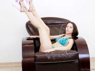 erotisch hinter der Bühne mit schlanken Teenager Modell