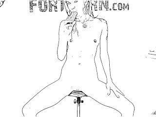 hot Teen masturbiert auf seltsame Kameraeinstellungen