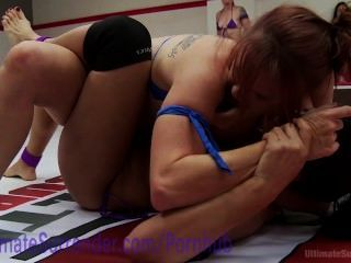 sexuelle Wrestling Hardcore Lesben Orgie
