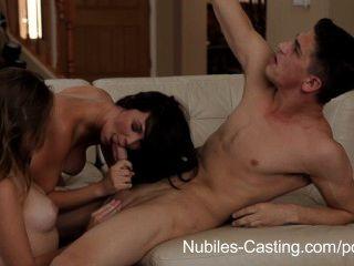 nubiles Casting - Porno-Tryout bekommt jugendlich Hottie gefickt roh