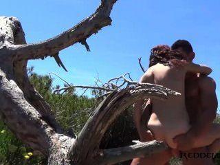 Debora und diego spanisches Paar ficken in Strand