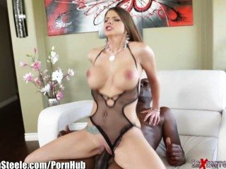 Lexington Steele Brooklyn Chase liebt große Ebenholz Hahn