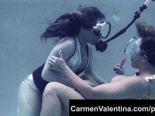 ausgeflippt Schlampe carmen valentina Unterwasser Pussy lecken!