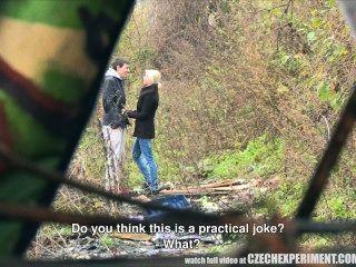 tschechisch Experiment junges Mädchen fragen Mann für Sex auf der Straße