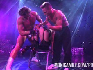 norwegisch monicamilf live auf der Bühne bei Sexhibition