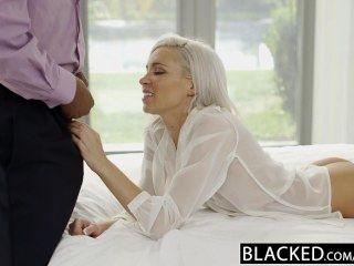 geschwärzt adrette blonde Freundin Kacey Jordan betrügt mit bbc