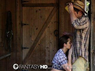 hd fantasyhd - Cowgirl Dani Daniels reitet Dick auf dem Bauernhof