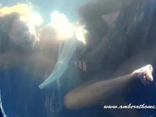 Unterwasser-Blasen, Sex und cum
