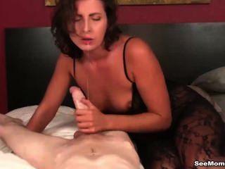 hot Milf sucking dick