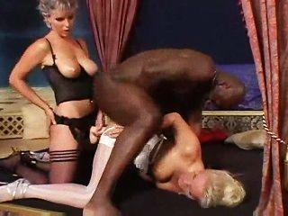 schwarzen Schwanz + Gurt auf