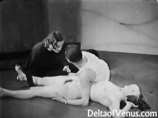 vintage porn 1930er Jahre - FFM Dreier - FKK-Bar