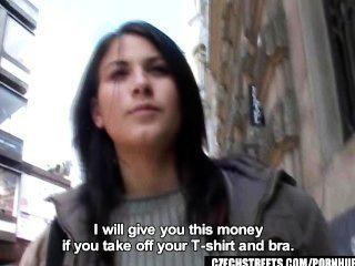 tschechische Straßen - veronika bläst dick für Bargeld