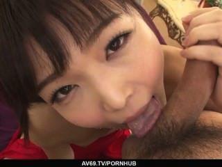 megumi shino nimmt ihre creampied zu erhalten Kleid aus