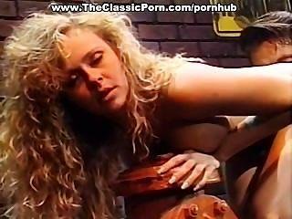 wunderschöne blonde klassischen Porno-Star