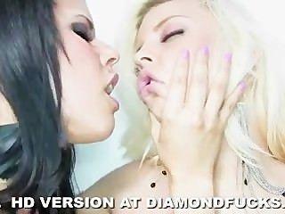 Diamant Kitty und britney amber auf weiß