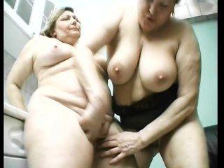 alte Fett Lesben haben Spaß