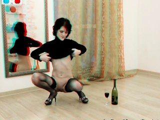 schüchtern Milf selbst Fisting und Flasche in ihre Muschi Einfügen - 3d hinter der Bühne