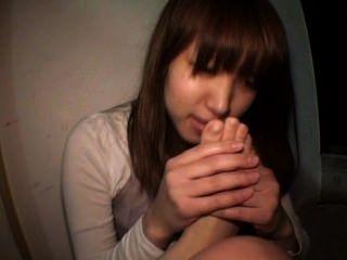 japan Mädchen Selbst fußanbetung