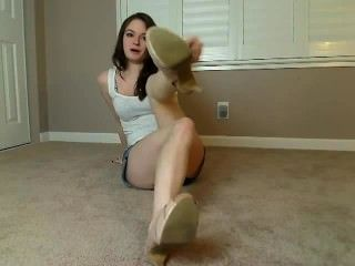 schöne Mädchen Füße pov