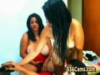 3 junge Mädchen Strippen auf Webcam