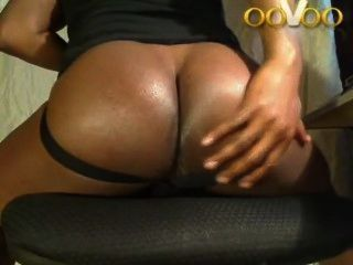 oovoo Webchat großen schwarzen Arsch zeigt
