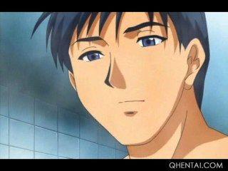 Hentai Teen stunner wird mit einem harten Schwanz Muschi gefüllt