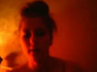 nuttig Mädchen auf Webcam