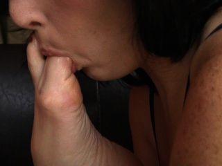 lesbisch slobbery fußanbetung