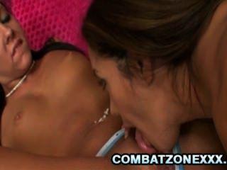 francesca le und Efeu Winter - zwei babes köstlich lesbischen Sex