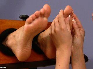 Fuß kitzeln und Anbetung