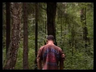 russische Paar in den Wald