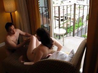 chinesisch Freund weiß jugendlich im Hotel Füllung