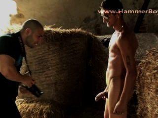 Bühne hinter dem Foto-Shooting Zigeuner Rado aus hammerboys tv