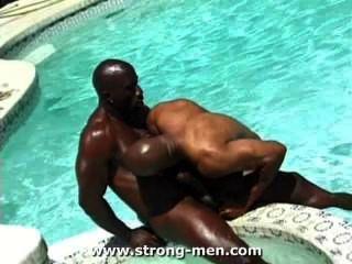 erstaunlichen schwarzen Muskel Hunks