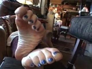 reifen blauen Zehen sexy Sohlen