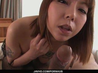 Minami kitagawa's asiatischen Creampie in pov rasiert