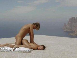 Mode Kunst Yoga in den Himmel