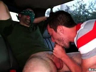 Geck mit Schwanz Piercing bekommt Arsch gefickt