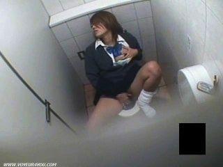 geile Mädchen Masturbation Uniform Voyeur Toilette