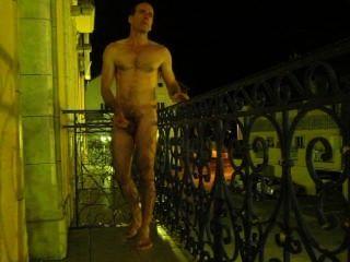 cauterets in der Nacht Frankreich Hotelbalkon