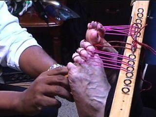 kitzeln große Füße