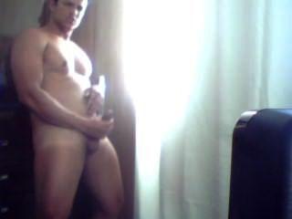 Junge Masturbation vor der Webcam