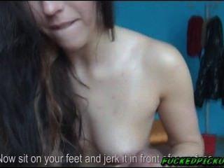 sexy morgan akzeptiert das Geld Sex mit diesem seltsamen Kerl zu haben