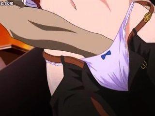 Hentai wird von hässlichen Kerl rieb und gefickt