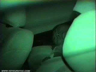 Sex im Auto von einer Infrarotkamera aufgenommen