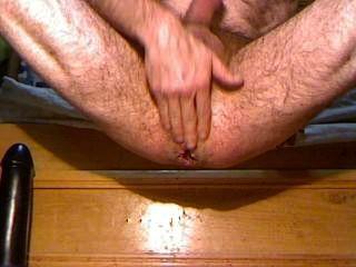 anal großen Dildo