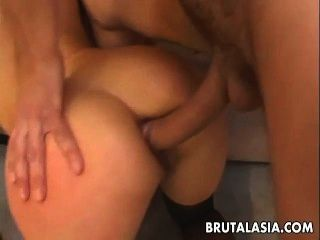 Double Penetration für Asian Babe katsuni