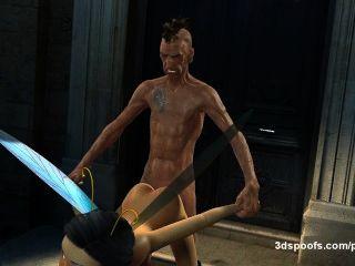 saftig nass Fee fucks Hobo hart und endet in einem goldenen Dusche