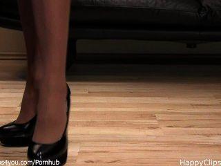 Herrin anique schwarze High Heels Schuh Schritte